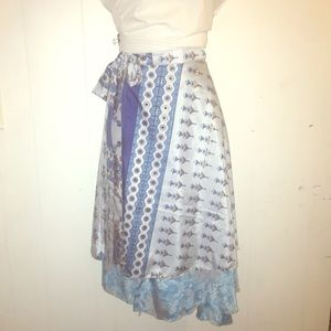 One size reversible Indian silk wrap skirt